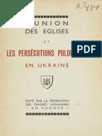 L'union des églises et les persécutions polonaises en Ukraine