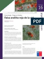 Ficha 16 Falsa Aranita Roja de La Vid