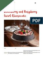 Blackberry and Raspberry Swirl Cheesecake _ Driscolls