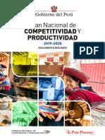 Plan Nacional de Competitividad y Productividad PNCP