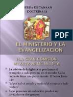 Doctrina 11 El Ministerio y La Evangelizacion