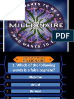 Who Wants to Be a Millionaire Reading