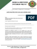 Informe Liq de Beneficios Sociales