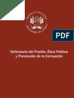 Defensoría del Pueblo, Ética y Prevención de la Corrupción