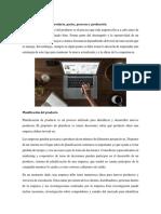 2.1.2 Planificación Del Producto, Partes, Procesos y Producción