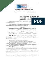 Lei Complementar 4 2003