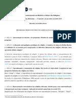 Semin. RA. Programa Desenvolvido. Bibliografia 18-19