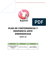 6.- Plan de Contingencia y Respuesta a Emergencias