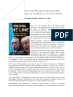 Proceedings Review of Holding the Line (December 2019 issue)