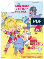 Rainbow Brite Color Book for Toddlers