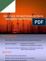 balance de materiales para yacimientos petroleros