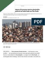 Sobe Para Nove o Número de Pessoas Mortas Pisoteadas Durante Operação Policial Em Baile Funk Em São Paulo