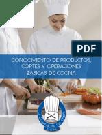 CORTES Y OPERACIONES BÁSICAS DE COCINA