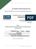 Implementación de Servidor FTP (FileZilla)