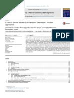 Una revisión crítica sobre los tratamientos de aguas residuales textiles