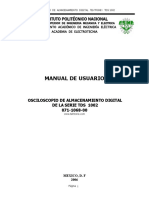 Osciloscopio Tectronix Manual