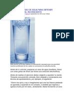 Tecnica Del Vaso de Agua Para Obtener Respuestas Del Inconsciente