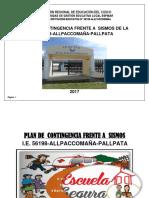 Plan Contingencia Sismo Allpaccomaña