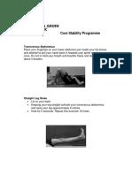 Core Stability Programme