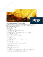 Bahasa Indonesia Makanan Kliping
