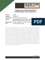 Evaluación de la ecografía como método diagnóstico en urgencias de la apendicitis aguda