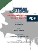 Tugas Log Book Futsal Level 1 National(SAEPUL ANWAR)