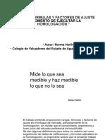 Rangos, Formulas y Criterios Para La Homologación
