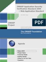 About Owasp Asvs