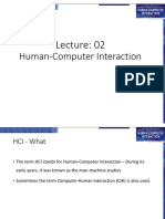 Lecture 2 HCI