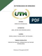 Proceso de Creacion y Aprobacion de Un Tratado Internacional Tarea III Parcial