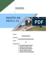 Informe de Diseño de Mezcla de Concreto