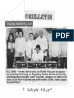 Manila Bulletin, Dec. 5, 2019, Bills Signed Pres. Duterte signs into law two bills passed by  Congress one postponing the Barangay and Sangguniang Kabataan elections.pdf