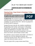 No Ordinary Night Nativity Script