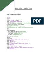 Matlab Code for QPSK