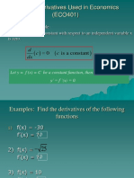 Rules of derivative used in Economics (ECO401).ppt
