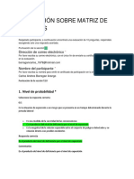 Evaluación Sobre Matriz de Peligros