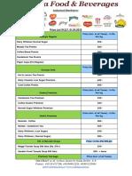 Tea/coffee whole sale Price list