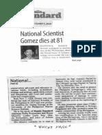 Manila Standard, Dec. 5, 2019, National Scientist Gomez dies at 81.pdf
