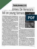 Peoples Journal, Dec. 5, 2019, NEDA endorse De Venecias bill on young farmers.pdf