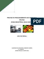 Proyecto Procesamiento de Verduras y Frutas 2014