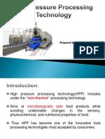 High pressure processing presentation by Bhawani Kurre