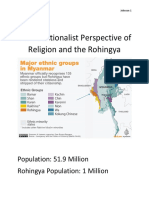 the functionalist perspective of religion and the rohingya