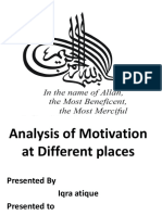 Analysis of motivation