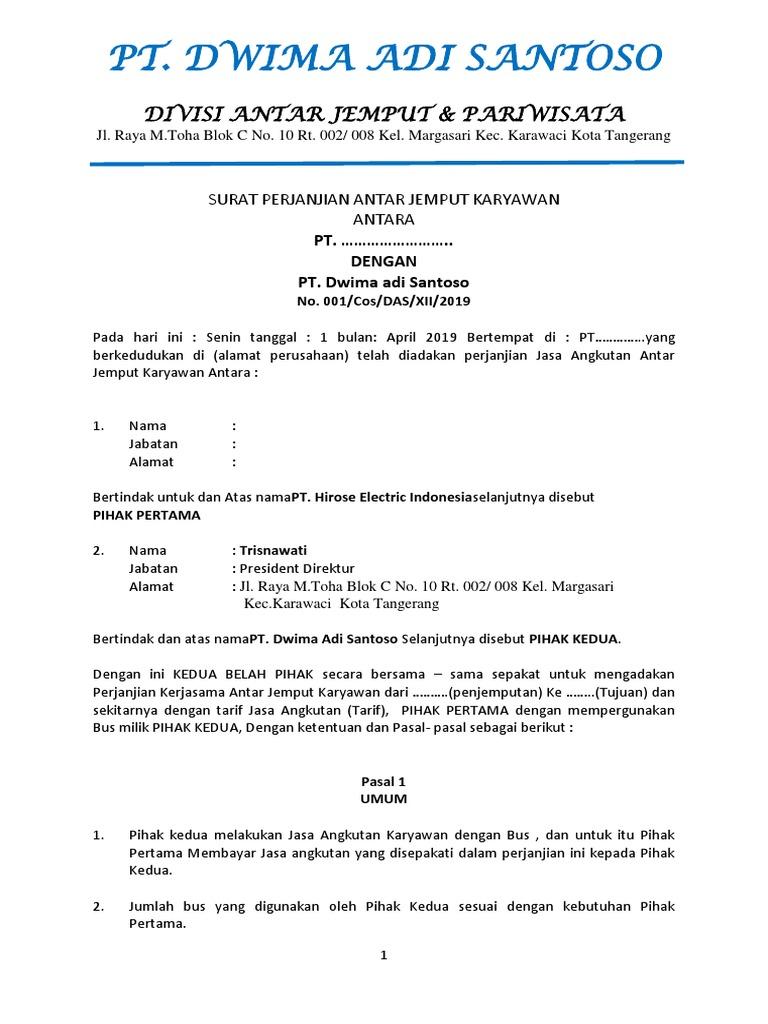 Draft Kontrak Jemputan Karyawan Docx