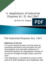4. Regulation of Industrial Disputes Act 1947