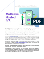 CloudConnect Launched Their Multilevel Hosted IVR Services in the Indian Market