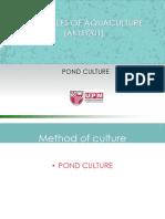 Lect 5-Design of Aquafarm-Pond Culture