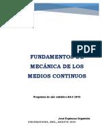 Texto Fundamentos de Mecanica Del Medio Continuo