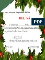 diploma de Craciun
