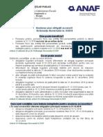 Anularea unor obligaţii accesorii Ordonanţa Guvernului nr. 6/2019
